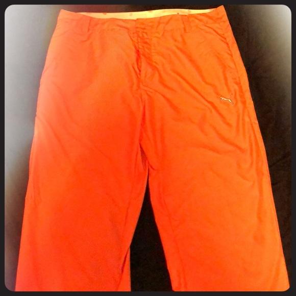 Orange Puma Golf Pants. M 5a9410eb05f4308496a7d6d7 0e57392772bc